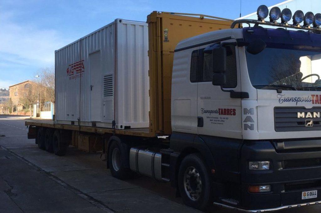 Feda grupo electrogeno insonorizado en camión