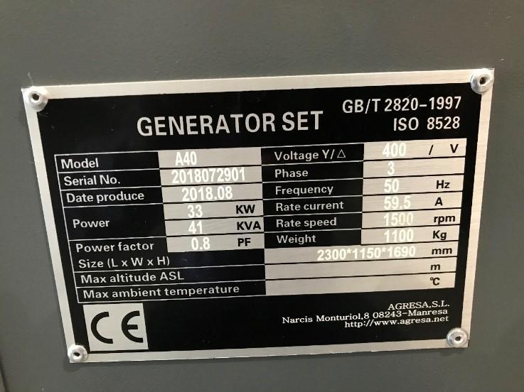 Regulations for generating sets