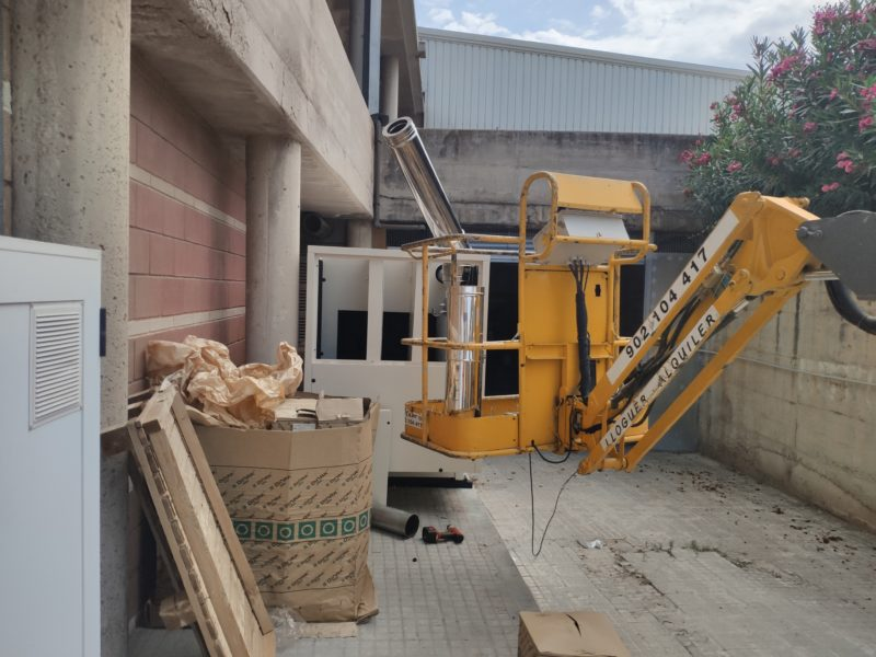 Generator set installation in confined spaces
