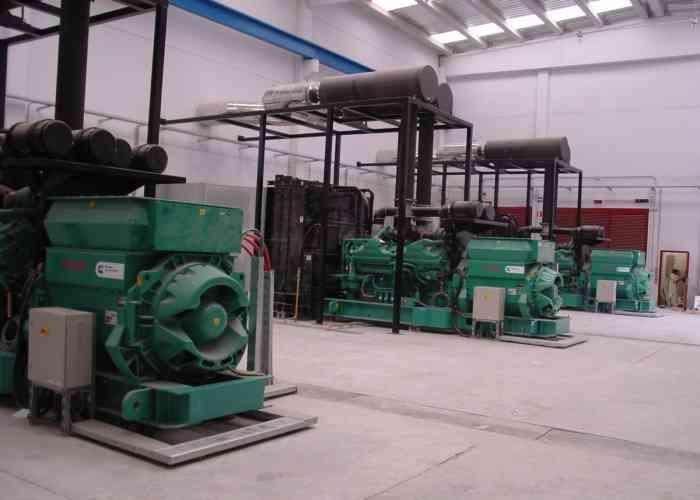 Generating sets of 200 Kva